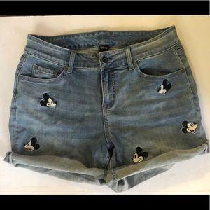High Waist Mickey Mouse Denim Shorts (Torrid/Zara)